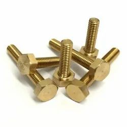 Full Thread Hexagonal Brass Nut Bolts, For Bathroom Fitting, Size: M6 To 12