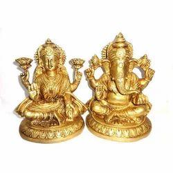 Ganesh Lakshmi Metal Murti