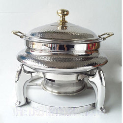 3 Leg stand stainless steel Chafing Dish hammered finish
