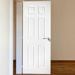 White Laminated PVC Door, For Office