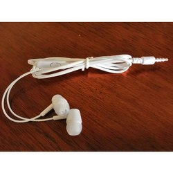 White Wired Earphone