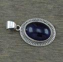 925 Sterling Silver Amethyst Gemstone Jewelry Pendant