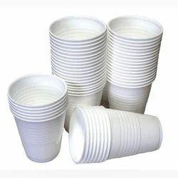 Paper White Plain Disposable Cup, Packet Size: 50 Pieces