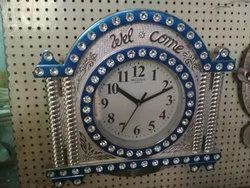 Mechanical Plastic Wall Clock, Size: 12 inches x 14 inches, Model Name/Number: 6666