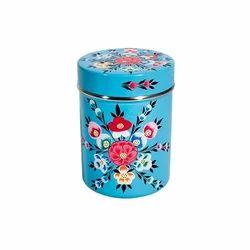 Hand Painted Enamelware Candies Jar