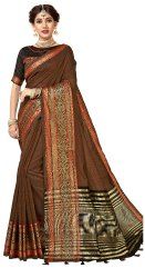 Cotton Silk Weaving Traditional Saree With Blouse Piece