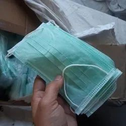 3 Ply Green Medical Disposable Face Mask, For Surgical, Size: 175 X 95 Mm