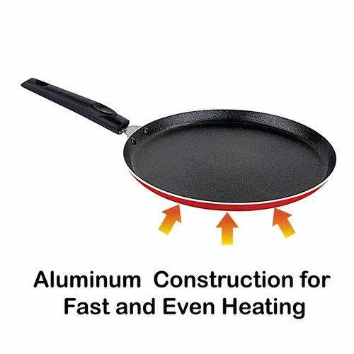 Red Amp Black High Grade Aluminium Nirlon Flat Non Stick
