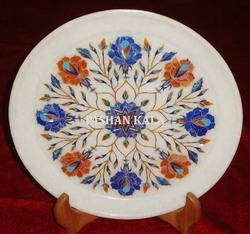 White Marble Stone Decorative Plate