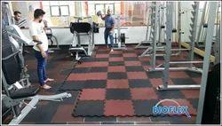 Interlock Gym Rubber Tile