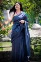 MulMul Plain Cotton Sarees