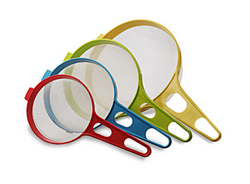 Soup Strainer Set Set Of 4 Multi Color