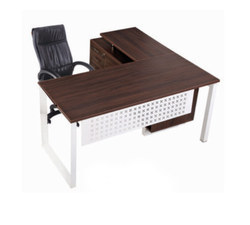 Executive Table with Side Rack Decking