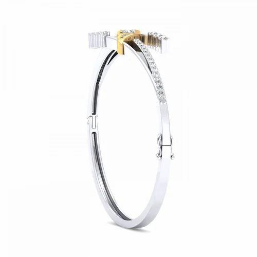 8e300800098 Sarvada Jewels Real Diamond 18K Gold Bracelet