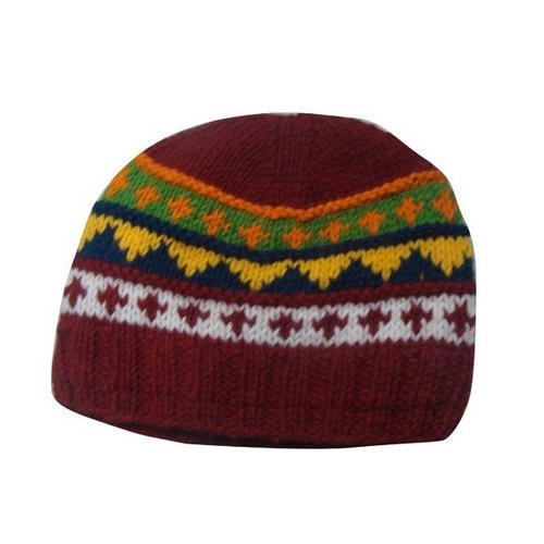 Kapkins Multicolor Knitted Woolen Cap