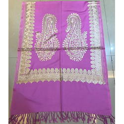 Pink Designer Pashmina Stole