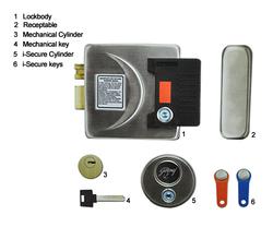 White & Gray Metallic Godrej I-Secure Rim Lock, Ss