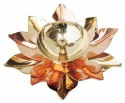 Pooja Pure Brass And Copper Diya Deepak 4 inch (Z124 B)