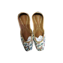 Ladies Floral Printed Slip On Mojari
