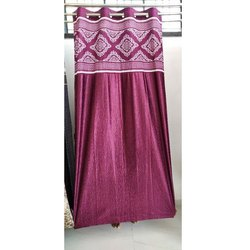Dark Door Silk Curtain