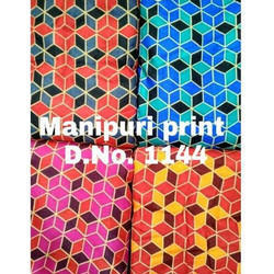 Digital Manipuri Print Silk Fabric
