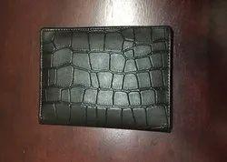 Male Leather Gents Wallet Croc PP, Card Slots: Passport Option