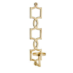 Wall mounted decorative metal Candle Holder gold finish