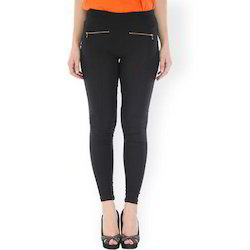 393bfe321e6f9 Plain Black Ladies Jeggings, Rs 100 /piece, Maheshwari Garments | ID ...