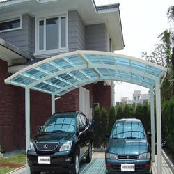 Polycarbonate Car Parking Shed