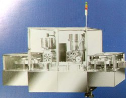 Automatic Powder Filling And Rubber Stoppering Machine