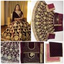 Thankar Red Heavy Exclusive Bridal Wear Lehenga Choli