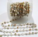 AAA Quality Mystic Coated Sunstone Hydro Quartz Beaded Chain
