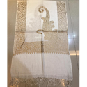 White Designer Embroidered Stole