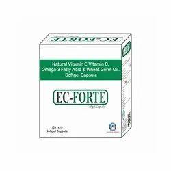 Natural Vitamin E Vitamin C Omega 3 Fatty Acid and Wheat Germ Oil Softgel Capsule