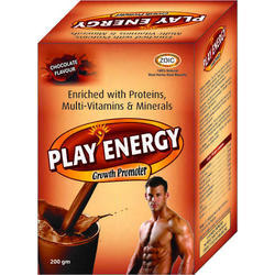 Play Energy Herbal Protein Powder, Packaging Type: Box, Packaging Size: 200 g