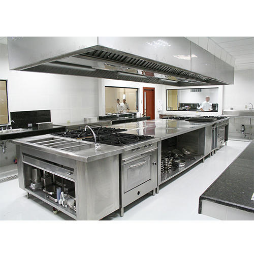 Silver Stainless Steel Commercial Hotel Kitchen Equipment
