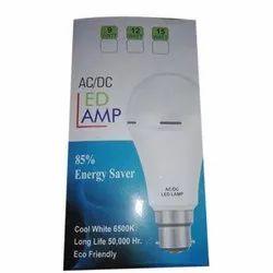 9 W AC DC LED Lamp Bulb, Base Type: B22