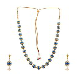 Traditional Meenakri Design Earrings Necklace Set 230