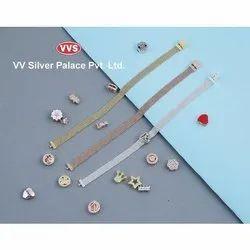 92.5% Casual Wear Mens Silver Bracelet