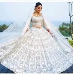 Bridal Embroidered White  Lehenga Choli