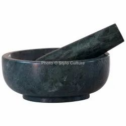 Good-Looking Green Marble 6 Inchs Mortar And Pestle Set