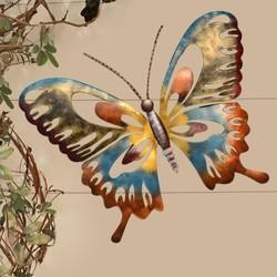 Handcrafted Iron Multicolored Butterfly Wall Hanging
