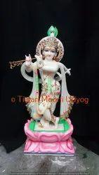 Marble White Murli Manohar Statue