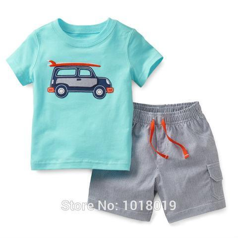 100 Cotton Toddler Kids Clothes Short Sleeve Baby Boys Chil At Rs