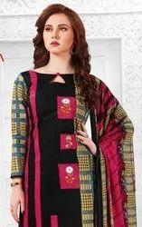 JK Ayesha Vol-4 Printed Cotton With Chiffon Dupatta Dress Material Catalog