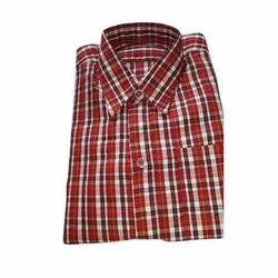 Casual Wear Checks Mens Polyester Check Shirt, Machine and Hand Wash, Size: M-xxl