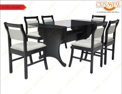 Crystal Furnitech wooden dining table set, For Home, 3 Years