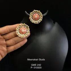 Meenakari Chromatic Studs