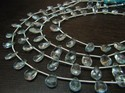Natural Blue Topaz Pear Shape Faceted Briolette Beads