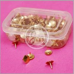 Golden Round Drawing Pin, Box